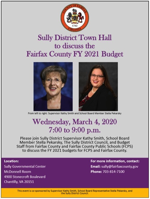 Sully District Budget Town Hall Flyer