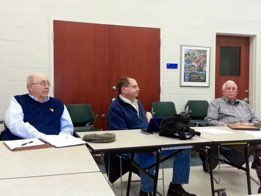 Lewis Grimm, SDC 2nd VP, Jim Neighbors, SDC Secretary and Hal Strickland, Sully Park Authority Representative